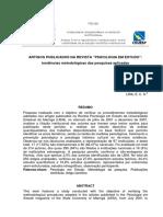 Artigos Publicados Na Revista Psicologia Em Estudo Tendências Metodológicas Das Pesquisas Aplicadas