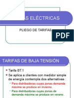 TARIFAS ELÉCTRICAS PLIEGO