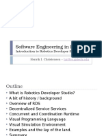 Software Engineering in Robotics - Lecture4