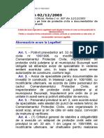 Norma 02-2003_privind Avizarea Pe Linie de Protectie Civila
