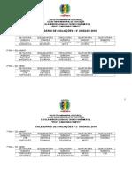 Calendário de Avaliações_2ª Unidade 2016