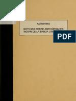 Florentino Ameghino - Noticias Sobre Antigüedades Indias en La Banda Oriental