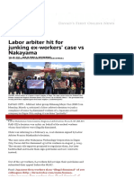 Labor Arbiter Hit for Junking Ex-workers' Case vs Nakayama _ Davao Today