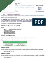 Tema 2 Expresiones Algebraicas