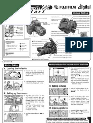 Fujifilm FinePix S9000 Digital Camera Quick Start Guide