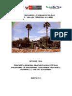 PLAN DE DESARROLLO URBANO DE CIUDAD MAJES – VILLA EL PEDREGAL 2012-2021 INFORME FINAL PROPUESTA GENERAL,