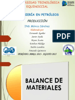 Balance de Materiales Expo