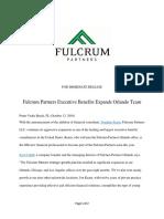 Fulcrum Partners Executive Benefits Expands Orlando Team