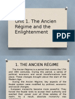 Unit 1. the Ancien Régime and the Enlightenment