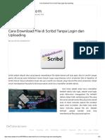 Cara Download File Di Scribd Tanpa Login Dan Uploading