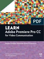 Learn Adobe Premier Cc for Video Communication