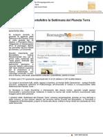 Fa tappa nel Montefeltro al Settimana del Pianeta Terra - Romagna Gazzette.com, 13 ottobre 2016