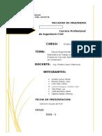 Cálculo Experimental  y Cálculo Matemático de Trabajo y Energía en Probeta de Concreto