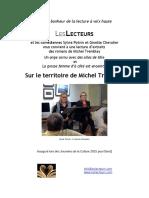 Affichette Les Lecteurs Sur le territoire de Michel Tremblay