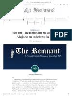 ¡Por Fin the Remnant en Español! Alojado en Adelante La Fe