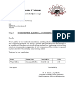 Internship Letter Shahzeb