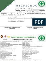 certificado cipa - Site Segurança do Trabalho nwn.ppt