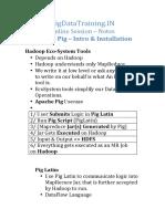 BigDataTraining ApachePig Intro Install