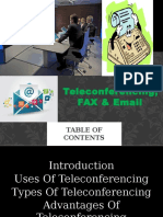 Teleconference Fax & Email