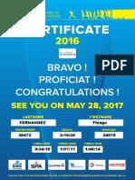 Certificate 20km Thiago Costa