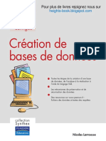 Livre Creation de Bases de Donnees