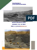 Proceso de Planificacion Minera (Rajo Abierto) Ejercicios