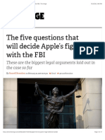The five questions that will decide Apple's fight with the FBI | The Verge