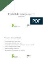 Apresentacao Central de Servicos de TI