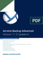 AcronisBackupAdvanced 11.5 Installguide Es-ES