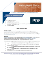 FG Toolkit-Sample Focus Group Report