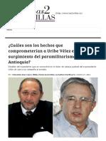 Kienyke - Cuáles Son Los Hechos Que Comprometerían a Uribe Vélez en El Surgimiento Del Paramilitarismo en Antioquia
