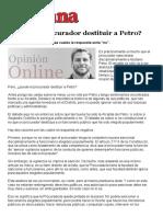 Semana - Puede El Procurador Destituir a Petro