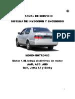 Inyección Mono-Motronic-Golf-Jetta y Derby A3