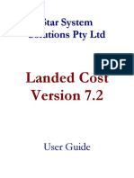 ELanded Cost Manual