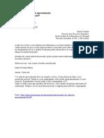 Carta de Apresentação - Exemplo