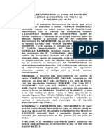 Carta Venta Jose Piñeros