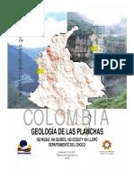 Memoria Geológica P 163 P164 P183 y P184.
