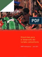 Directrices Para El Desarrollo Del Turismo Comunitario