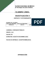 Matrices y Determinantes Unidad 2 Álgebra Lineal