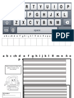 Teclado Para Letras Moviles