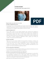 Qué es la gripe AH1N1 y cómo afecta la vida diaria