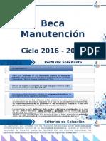 Becas Manutención 2016-2017