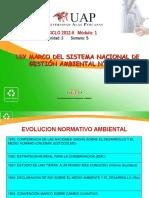 Qinta clase - Ley Marco del Sistema Nacional de Gestion Ambiental 28245.ppt