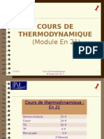 Cours de Thermodynamique Numero 1 Version Compatible 97-2003
