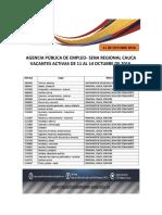 Ape Vacantes Activas 11-14 Octubre 2016 PDF