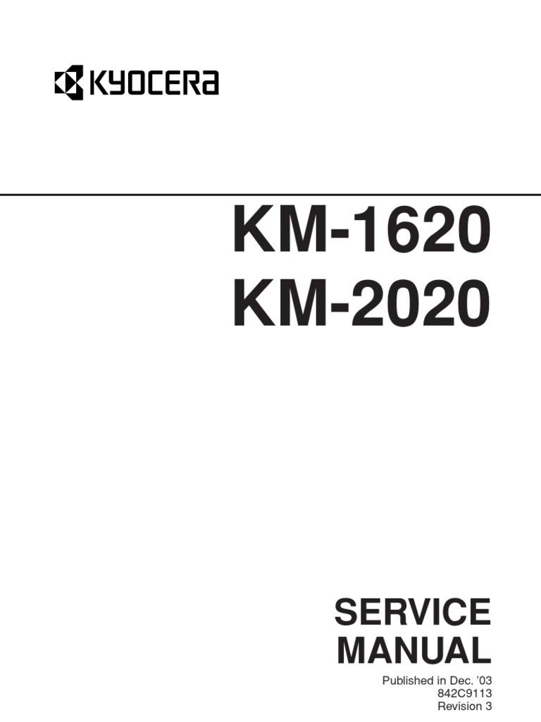 kyocera km 2020 km 1620 parts list