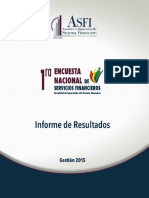 Primera Encuesta de Servicios Financieros-ASFI