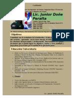 Curriculum Vita Junior Done Peralta Completo a Color