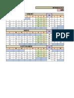 Calendario Colombiano en Excel