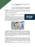 Principales Hábitos de Higiene Personal en La Educación Infantil